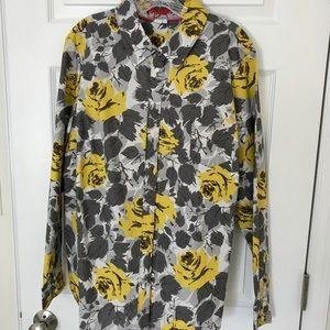 Boden Long Sleeve Button-Down Floral Shirt 18R